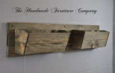 Handmade Rustic Wooden Pine Double Wall Planter Perfect For Growing Herbs / Flowers, £27.99