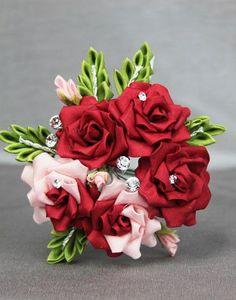 Rose Bouquet Kanzashi