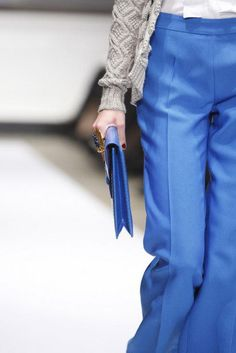 Wide legged trousers with amazing pop of color