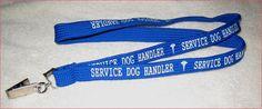 Service Dog Gear - Service Dog Handler Lanyard for your ID Badge
