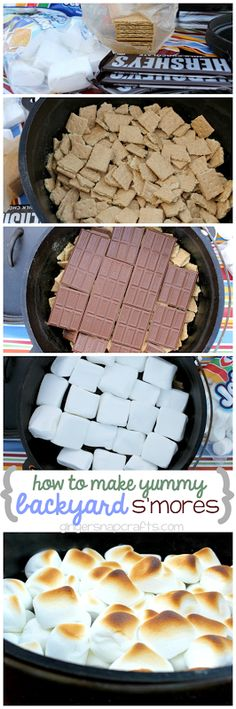 Dutch Oven Backyard S'mores ~ enjoying the Great Outdoors with the Family {recipe} #shop #collectivebias