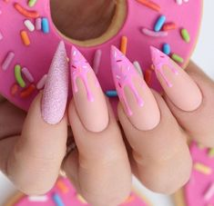 Sexuality Acrylic Stiletto Nails In 2019 Summer - Nail Art Connect What is the best choice of summer manicures? Of course, stiletto nails are the first. Best Acrylic Nails, Acrylic Nail Designs, Stiletto Nail Designs, Stiletto Nail Art, Acrylic Art, Gorgeous Nails, Perfect Nails, Perfect Pink, Amazing Nails