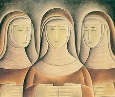 As Religiosas 1969 | Vicente do Rego Monteiro óleo sobre hardboard, c.s.e. 68.00 x 79.10 cm