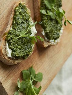 Try Pea Shoot Pesto with Lemon Ricotta on Toast for a guest-satisfying appetizer.