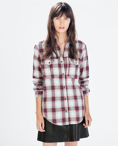 Image 1 of CHECKED SHIRT from Zara
