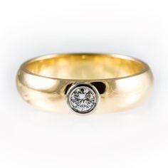Simple engagement ring unique bezel engagement ring by KorusDesign