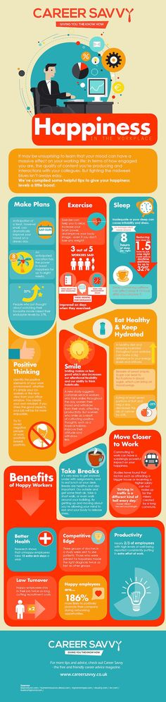 Infographic: Easy Tips To Boost Our Happiness Levels In The Office - DesignTAXI.com