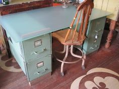 file cabinet desk. definite possibility.