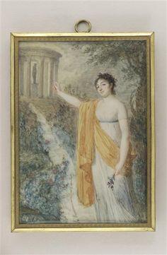 Portrait of Mademoiselle Fanny Charrin, pupil of J.B.J.Augustin