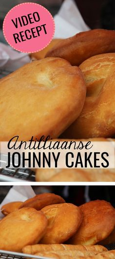 nl - The tastiest Johnny Cake ever! Lunch Snacks, I Love Food, Good Food, Yummy Food, Johnny Cakes Recipe, Cake Recipes, Snack Recipes, Caribbean Recipes, Caribbean Johnny Cake Recipe