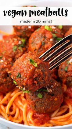 Vegetarian Recipes Easy, Veggie Recipes, Cooking Recipes, Healthy Recipes, Vegetarian Dinners, Top Recipes, Healthy Foods, Dinner Recipes, Meatless Meatballs