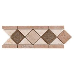 Diamond Crackle Travertine Border - 4in. x 11in. | Floor and Decor