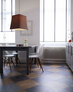 Black and brown check floor   IT COULD BE RUSTIC STYLE, TRYING TO MAKE IT W/ AGING PROCESS★♥