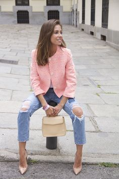 ItGirlMarta - Marta with our jacket of the Spring-Summer 15 collection.