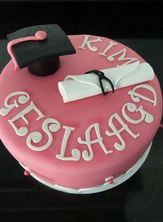 Geslaagd taart Passed exam cake Graduation cake http://www-taart-van-miranda.webklik.nl