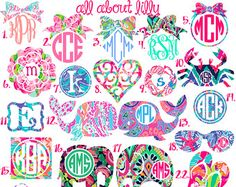 Monogram in Lilly Pulitzer Prints Personalized by maevelymade