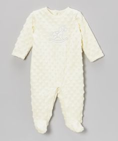 Take+a+look+at+the+Vitamins+Baby+Ivory+Rocking+Horse+Minky+Footie+on+#zulily+today!