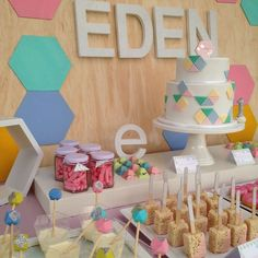 Pastel Geometric Birthday Party Idea :: 1st Birthday