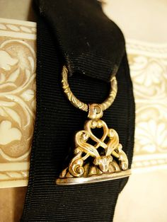 Antique Victorian Watch fob chain  gold filled by vintagesparkles, $110.00