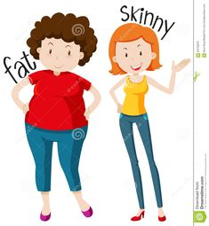 Opposite adjectives fat and thin Royalty Free Vector Image English Adjectives, English Vocabulary Words, Vocabulary Cards, Opposites For Kids, Opposites Preschool, English Opposite Words, Learn English Words, Autism Learning, Preschool Learning Activities