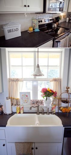 ruffle curtains via Life Made Lovely: home made lovely