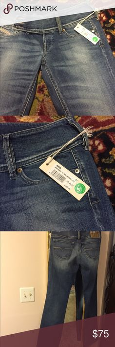 Diesel jeans size 29 Long 32 Bought it at an outlet diesel store , running too big on me . As you can see how much it was bought.  Also please do notice the buttons color changed , I have no idea why. So please ask as many question and I'll be more then happy to answer . Never been worn with defect on the buttons ! Thank u Diesel Jeans Boot Cut