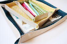 DIY Fabric Trays
