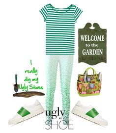 """""""I dig my ugly shoes"""" by lori437 ❤ liked on Polyvore featuring Valentino, agnès b., Picnic at Ascot and uglyshoes"""