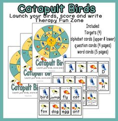 Therapy Fun Zone: Catapult Birds! Pinned by SOS Inc. Resources. Follow all our boards at pinterest.com/sostherapy/ for therapy resources.