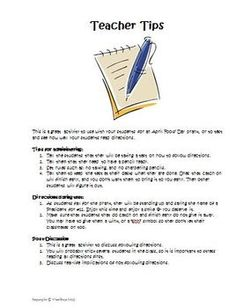 April Fools Day Reading Directions Activity: Prank Your Students! Teaching Tips, Teaching Art, Holiday Activities, Fun Activities, April Fools Day Image, April Fools Pranks, Teacher Hacks, The Fool, Motivational Quotes