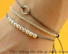 Pulsera de borlas de oro oro perlas borla 14K por BeaucoupdeBeads