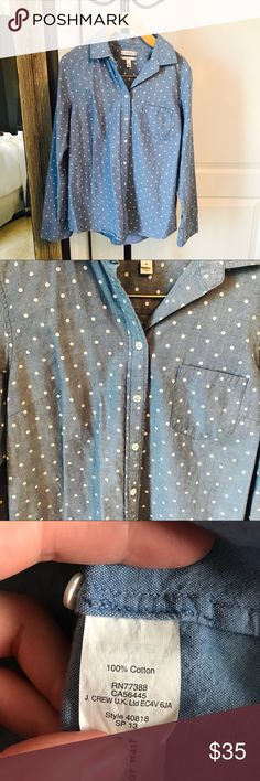J.Crew Button Down In great condition J. Crew Tops Button Down Shirts