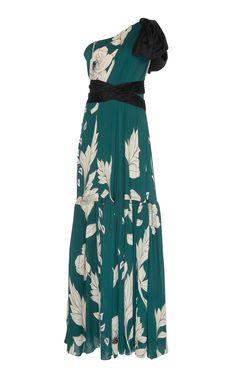 Congo Basin Silk Double Georgette Dress by JOHANNA ORTIZ for Preorder on Moda Operandi