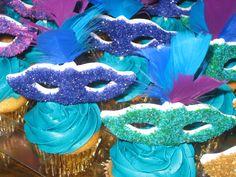 Masquerade inspired cupcakes