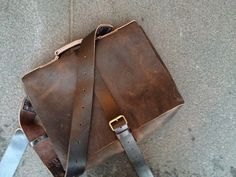 Handmade leather satchel  brown leather by LUSCIOUSLEATHERNYC, $319.00
