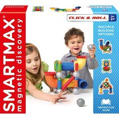 SmartMax - Magnetic Discovery Construction Click and Roll Set - - great rainy day toy! Imagination and construction, endless fun 2d And 3d Shapes, Stem Skills, Logic Games, Stacking Blocks, Stem Science, Creative Play, Toddler Preschool, Building Toys, Child Development