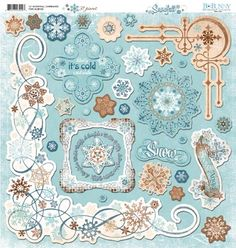 Bo Bunny Press - Snowfall Collection - 12 x 12 Chipboard Stickers at Scrapbook.com $4.49