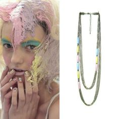 Pastel Color Pipe Double Necklace by @studiohx3