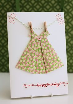 Origami Dress Card | A Spoonful of Sugar