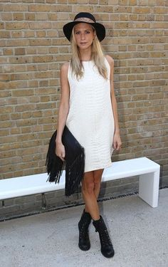 Poppy Delevingne Photos: LFW SS2013: Zoe Jordan Front Row - Celebrity Street Style