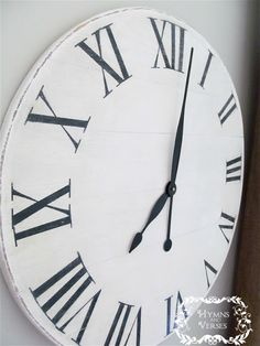 Knock Off Ballard Designs Wall Clock for under $15 | Hymns and Verses