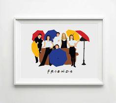 Amigos - cartel TV, minimalista de pared Poster, citar la impresión, impresión del Arte Digital