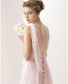 URSINA - Vestido de bambula de seda y encaje con pedrería enco... - hermoso
