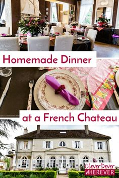 Find out where to eat dinner in a French Chateau in Burgundy