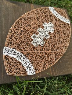 MADE TO ORDER String Art Football Sign