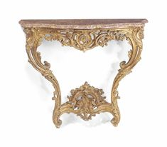 date unspecified A LOUIS XV GILTWOOD CONSOLE BY JEAN CHERIN, MID-18TH CENTURY Price realised GBP 5,625