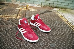 Just two weeks ago, adidas unveiled their latest retro update in the form of the adidas Samba ADV, which arrived in a sleek black colorway. After the initial success of the updated silhouette, Three Stripes is remixing the ADV, this time with a rich burgundy colorway. The colorway will again utilize suede on the sneaker's …
