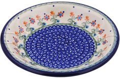 Polish Pottery 9-inch Pasta Bowl | Boleslawiec Stoneware | Polmedia H7660G