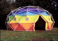 Geodesic domes by Geodesics Unlimited Geodesic Rainbow Dome