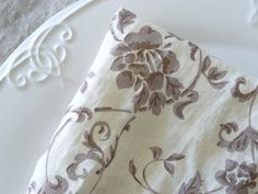Pure linenProvence LinenRomantic French floral on by LINENstep, $19.00